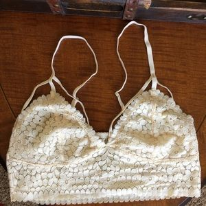 Other - Soft Lace Cream Bralette - Size Large L